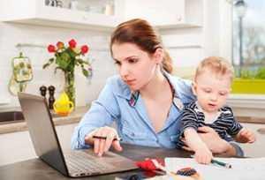 Работающая мать