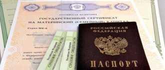 Паспорт и документы на получение материнского капитала