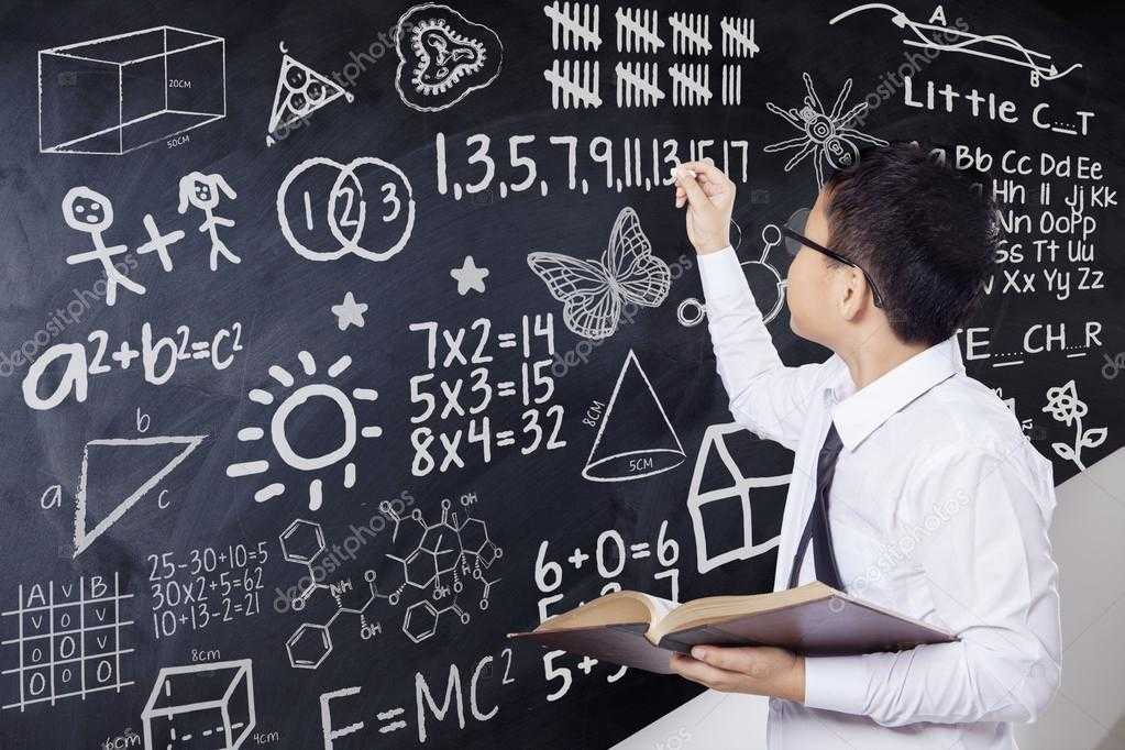 depositphotos stock photo boy writes mathematics formula in